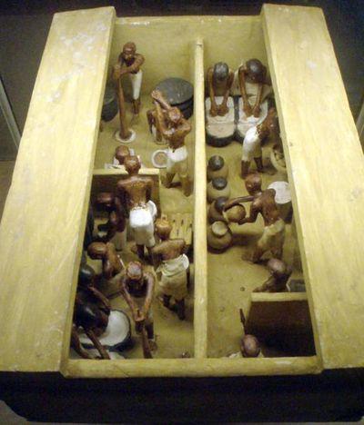 Egypte - model van een bakkerij/brouwerij